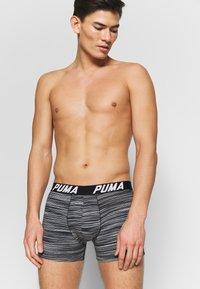 Puma - SPACEDYE STRIPE BOXER 2 PACK - Panties - black - 1