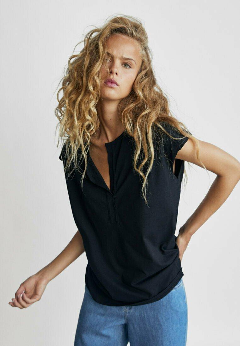 Massimo Dutti - T-shirt basique - dark blue