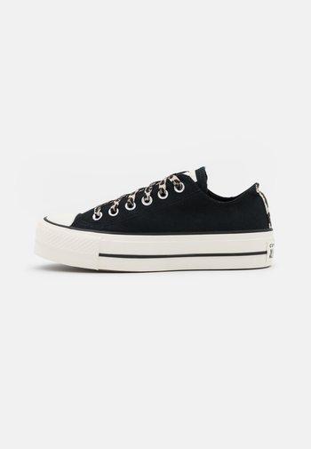 CHUCK TAYLOR ALL STAR ARCHIVE PLATFORM - Sneakers basse - black/light fawn/egret