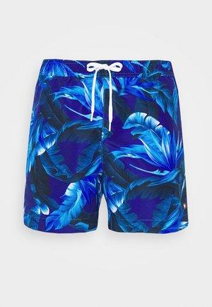 MEDIUM DRAWSTRING PRINT - Short de bain - blue