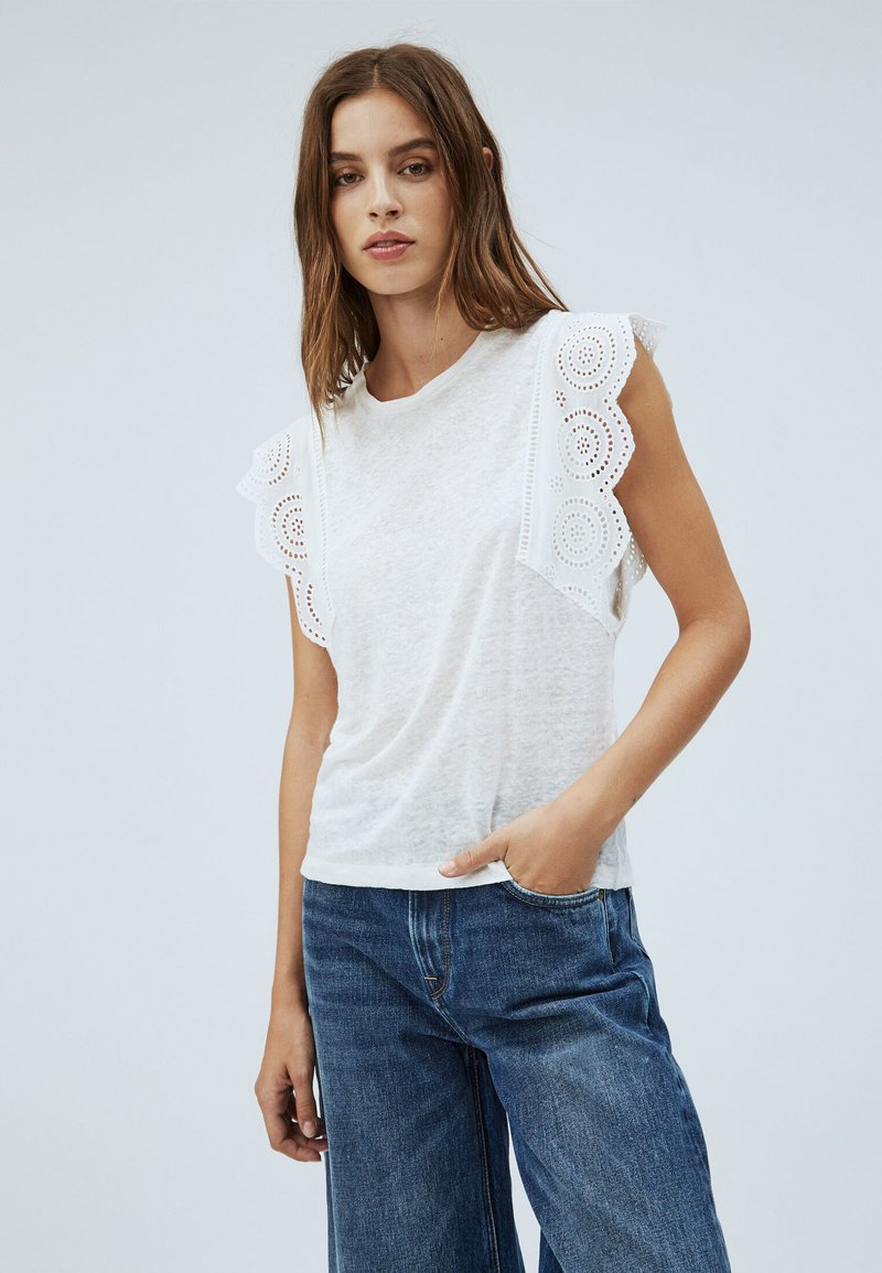Pepe Jeans - CLARA - Basic T-shirt - off-white