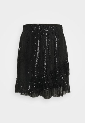 JDYMIMO SEQUINS SKIRT - A-line skirt - black