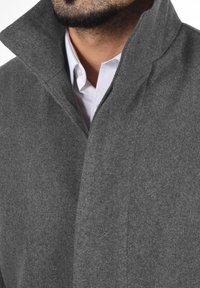 Solid - JAMPA - Classic coat - grey melange - 3