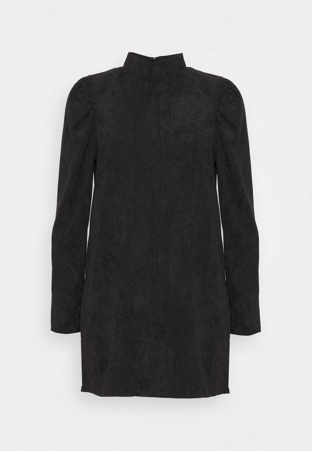 HIGH NECK SHIFT DRESS - Korte jurk - black