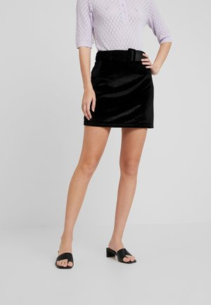 CANDY SKIRT - Mini skirt - black