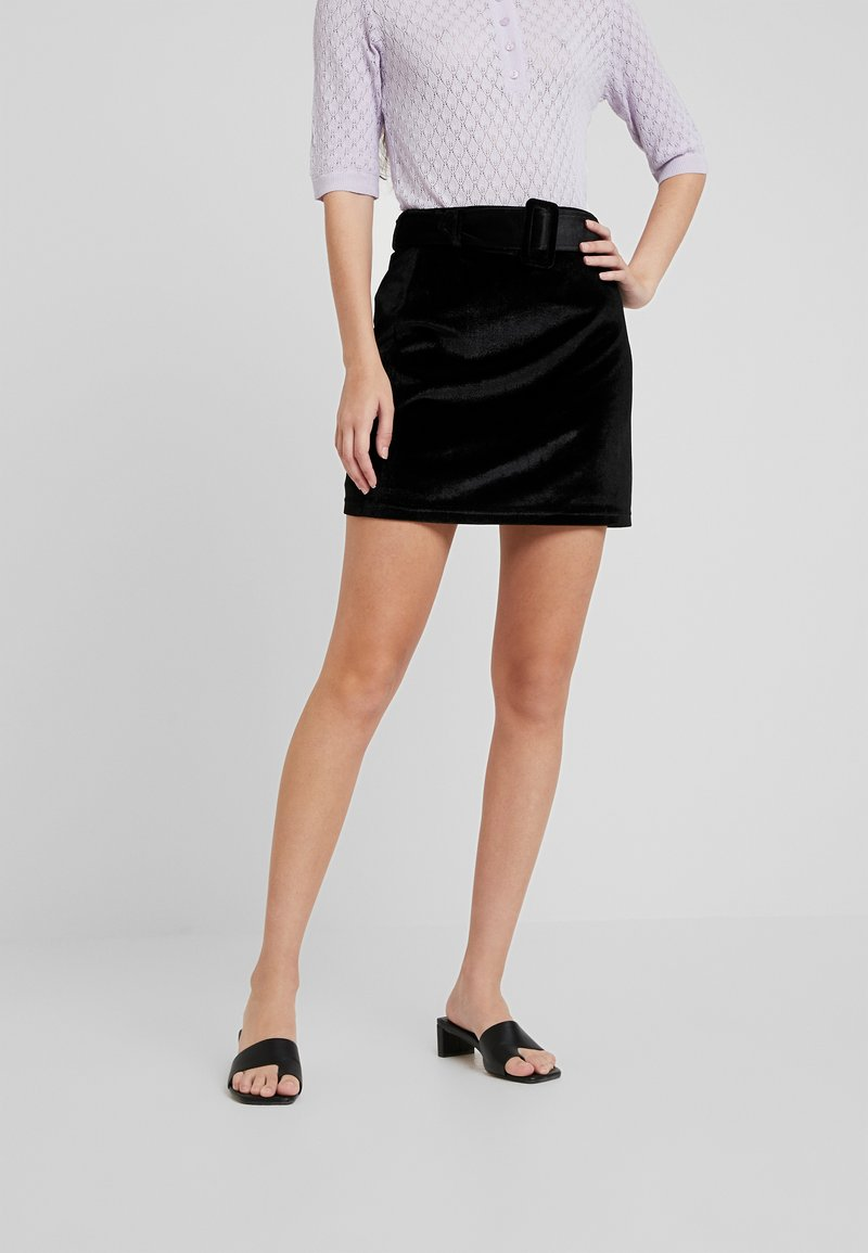 Fashion Union - CANDY SKIRT - Miniskjørt - black