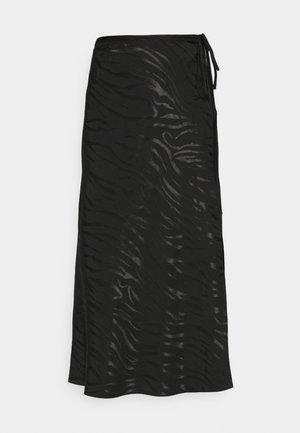 NEW BIAS JACQUARD - Pencil skirt - black