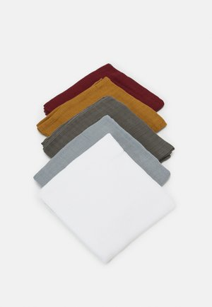 NBNNAPSIRA NAPPIES 5 PACK UNISEX - Muslin blanket - granite grey
