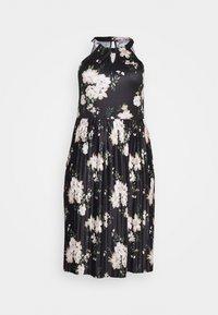 Anna Field Curvy - Žerzejové šaty - black/white - 4