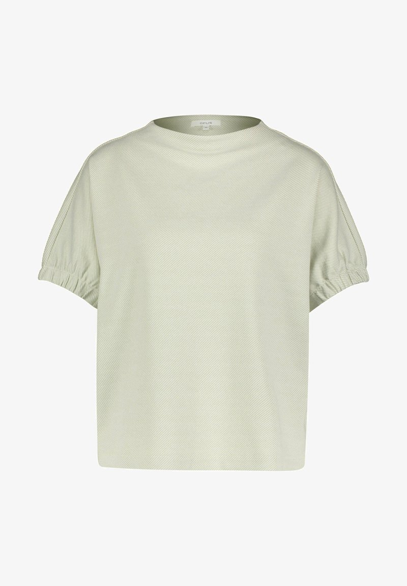 Opus - GOBUNA - Basic T-shirt - pistazie