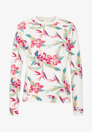 NIGHT IS YOUNG - Sweatshirt - snow white tropic call