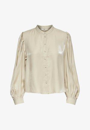 Button-down blouse - macadamia