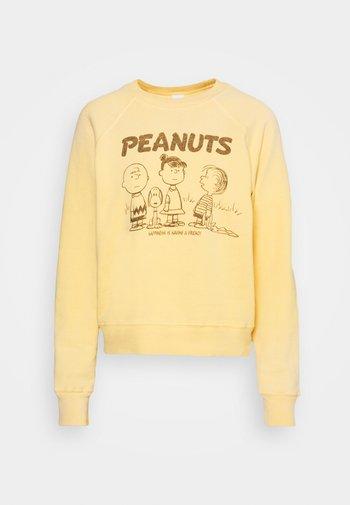CLASSIC RAGLAN CREWNECK PEANUTS HAPPINESS - Sweatshirt - faded lemon