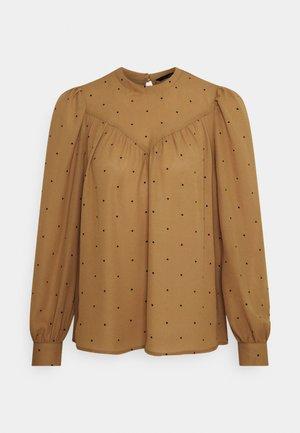 VMMARLEY - T-shirt à manches longues - tobacco brown/black