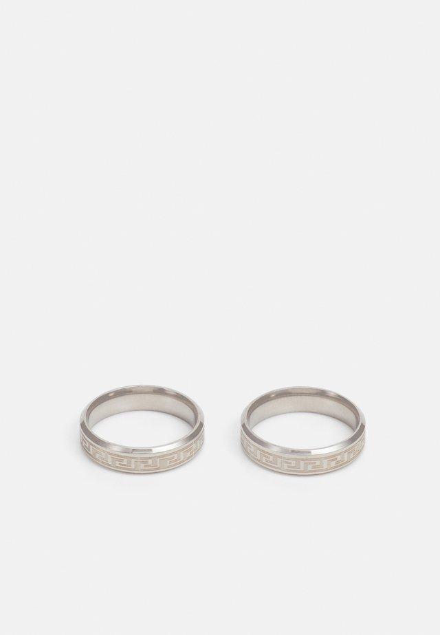 GREEK KEY RING 2 PACK - Ringar - silver-coloured
