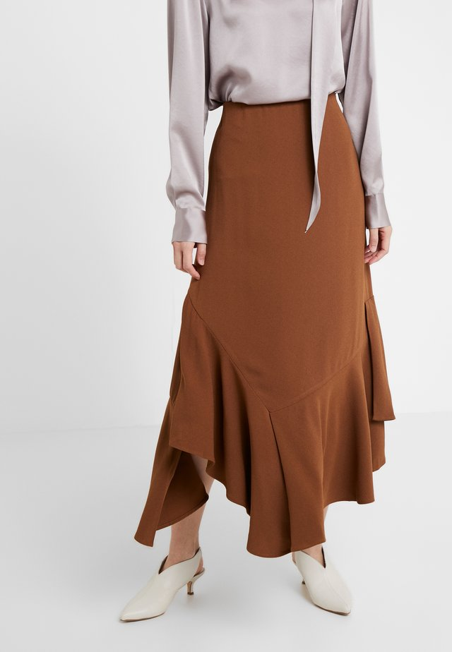 ANGELICA - Maxi skirt - golden brown