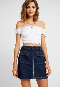 Miss Selfridge - ZIP THROUGH SKIRT - A-line skirt - blue denim - 3