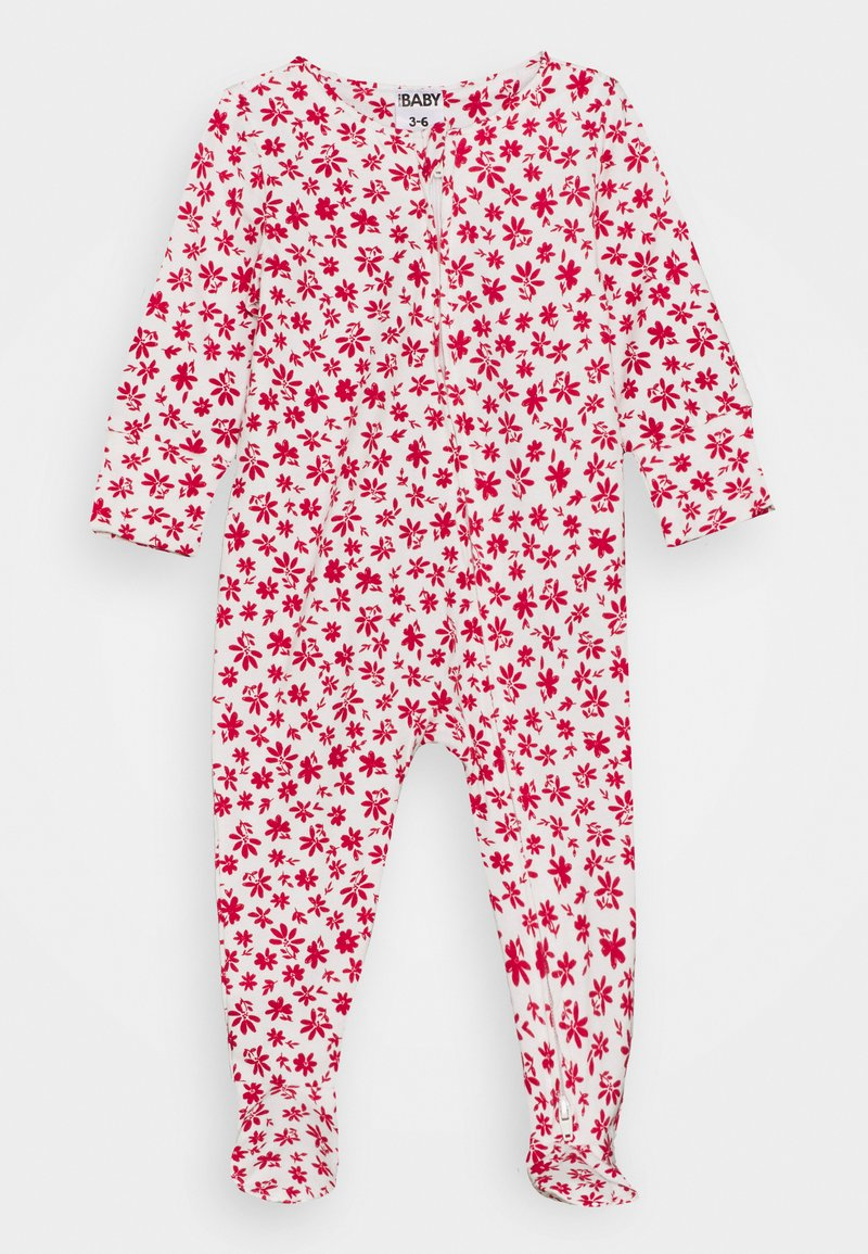Cotton On - THE LONG SLEEVE ZIP ROMPER UNISEX - Dupačky na spaní - vanilla/lucky red