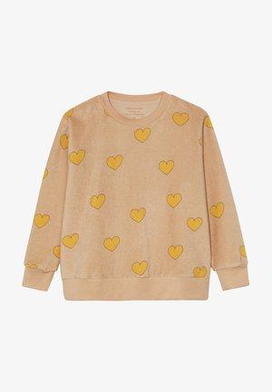 HEARTS  - Sudadera - nude/yellow
