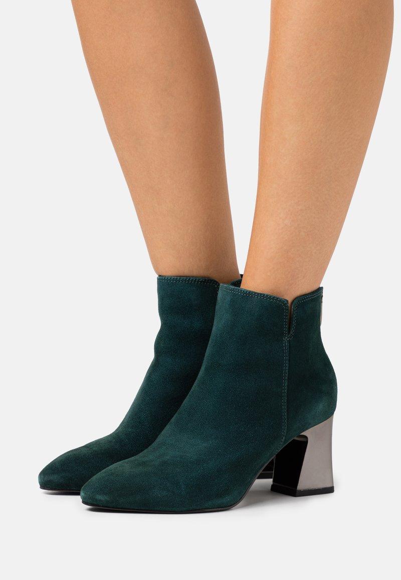 Tamaris - Ankle boots - petrol