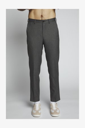 FLANNEL PLAIN TROUSER - Bukser - grey