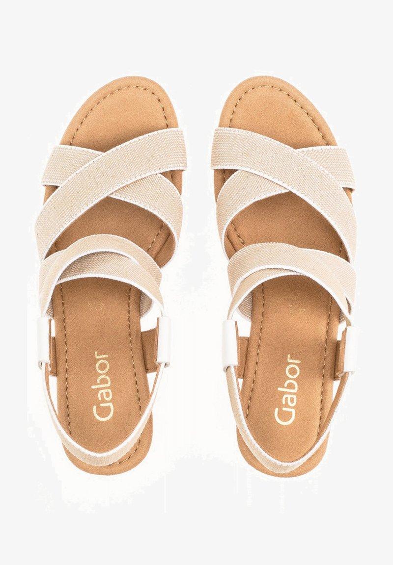 Gabor - Wedge sandals - weiãÿ