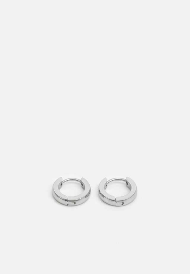 MINI HOOP EARRINGS - Øredobber - silver-coloured
