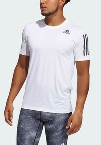 adidas Performance - TECHFIT 3-STRIPES FITTED T-SHIRT - Sports shirt - white - 4