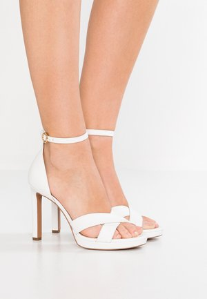 ALEXIA - High heeled sandals - optic white