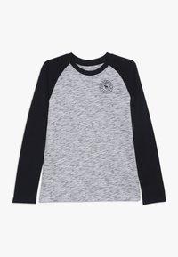 Abercrombie & Fitch - FOOTBALL TEE - Långärmad tröja - white/blue - 0