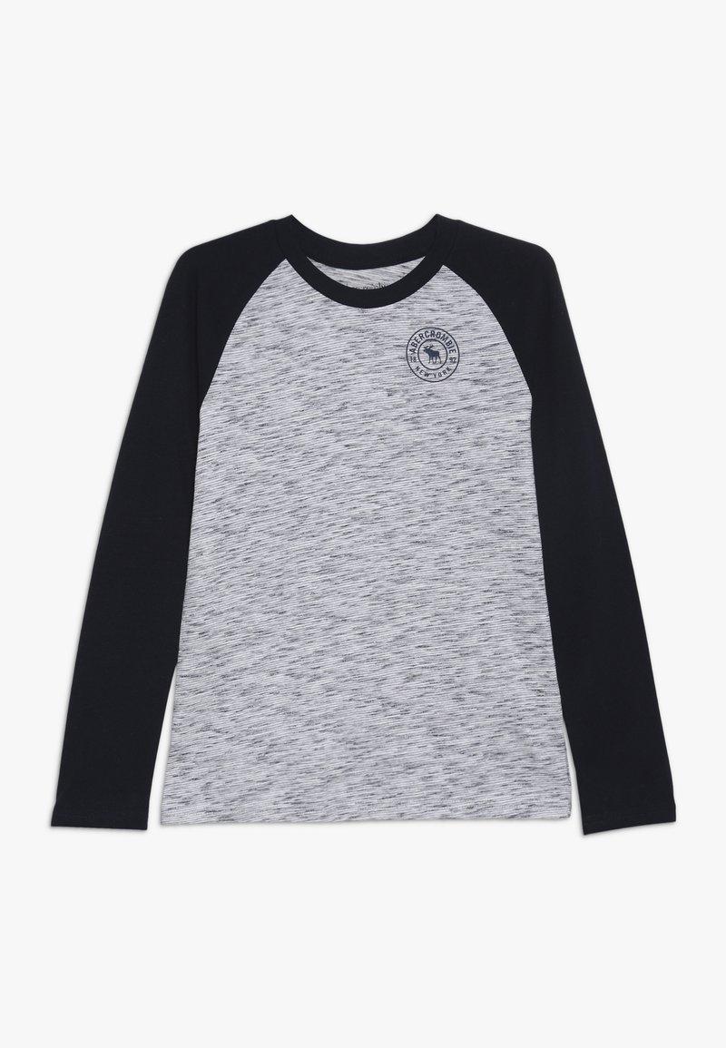 Abercrombie & Fitch - FOOTBALL TEE - Långärmad tröja - white/blue