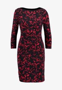 Lauren Ralph Lauren Petite - VICTORINA 3/4 SLEEVE DAY DRESS - Fodralklänning - black/scarlet red - 5