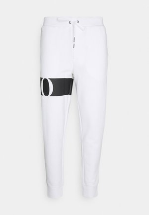 DOUBLE TECH - Tracksuit bottoms - white