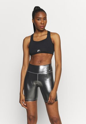 AIR BRA - Medium support sports bra - black/reflective silver