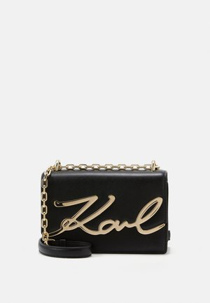 SIGNATURE SMALL SHOULDERBAG - Across body bag - black/gold