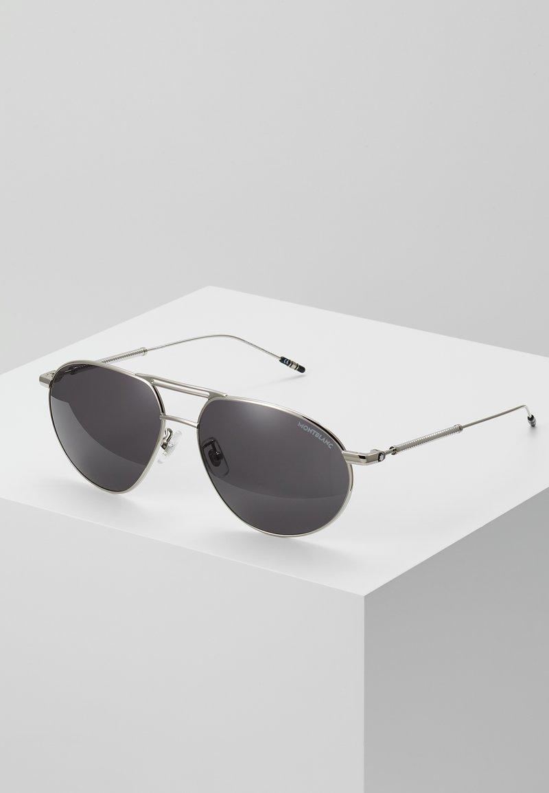 Mont Blanc - Sluneční brýle - silver-coloured/grey