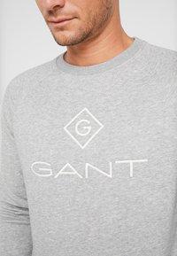 GANT - LOCK UP CREW NECK - Sweatshirt - grey melange - 4