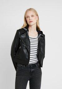Guess - LETIZIA JACKET - Faux leather jacket - jet black - 0