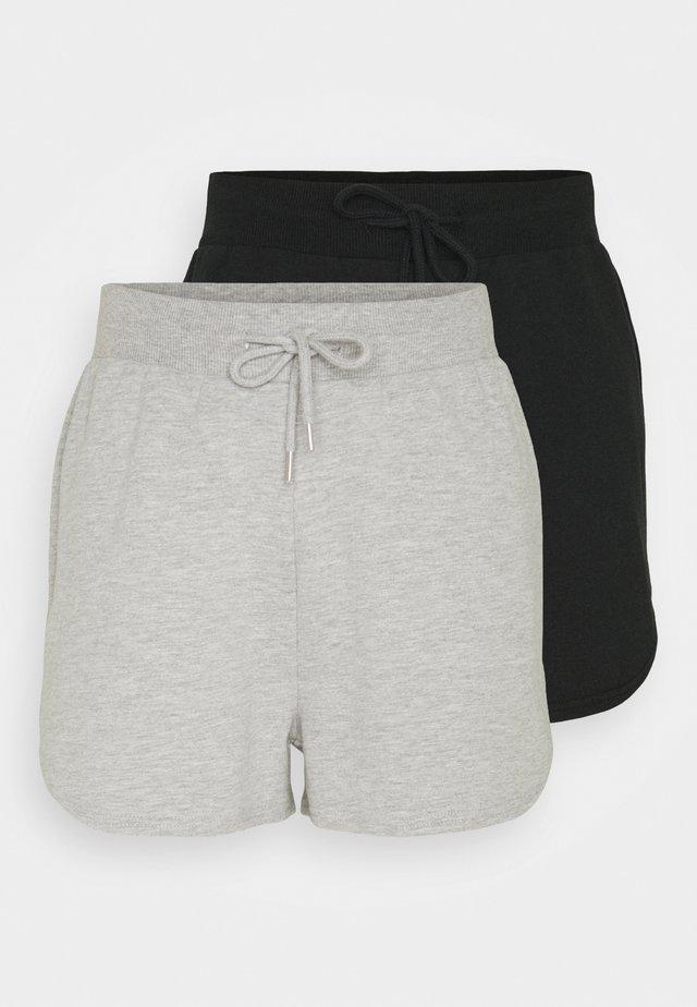 2 PACK - Bukser - black/mottled light grey