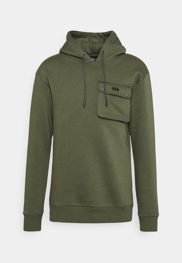 COMBAT HOOD - Sweatshirt - khaki