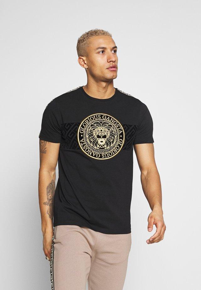 DAPOLI - Camiseta estampada - black
