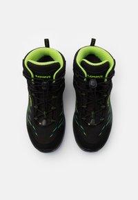 Lowa - ZIRROX GTX MID JUNIOR UNISEX - Hiking shoes - schwarz/limone - 3