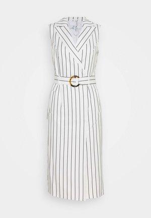 TALL PINSTRIPE SLEEVELESS DRESS - Day dress - white