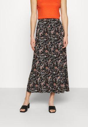 VMSIMPLY EASY SKIRT - Maxi skirt - black/adda