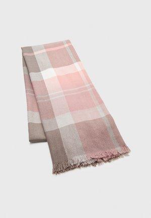 GLENN TARTAN SCARF - Scarf - blush pink/grey