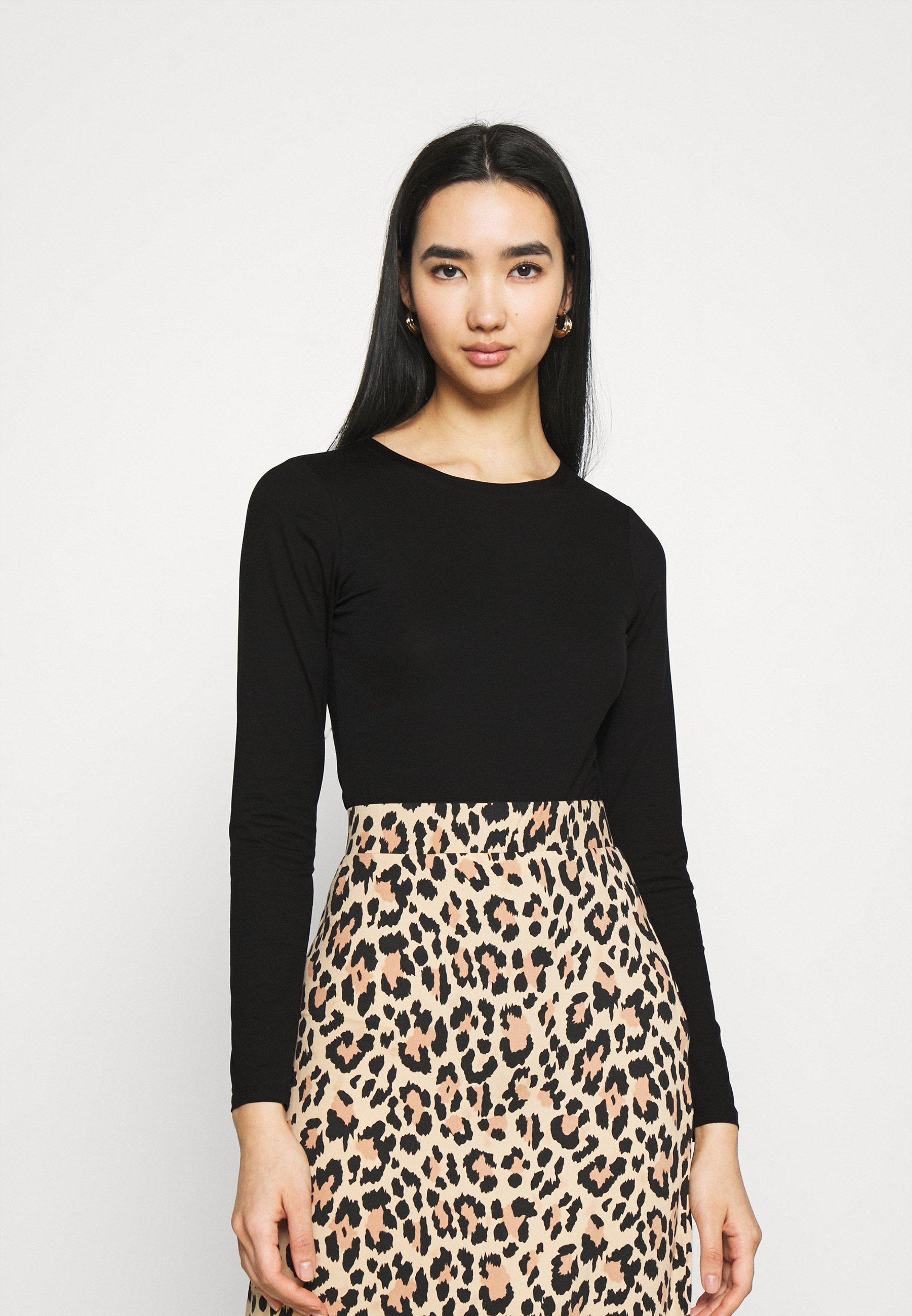 Women AMY BODY - Long sleeved top - black