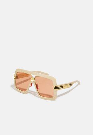 UNISEX - Sunglasses - white/orange