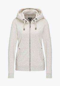 DreiMaster - Zip-up hoodie - white melange - 4