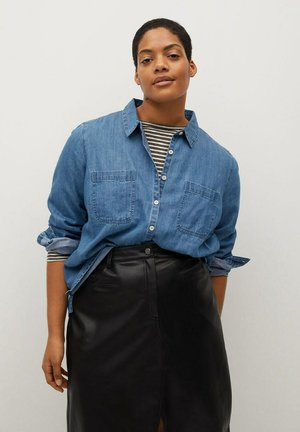 ESTRELLA - Button-down blouse - mittelblau