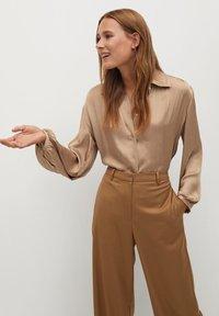 Mango - VAMPI-A - Button-down blouse - beige - 0
